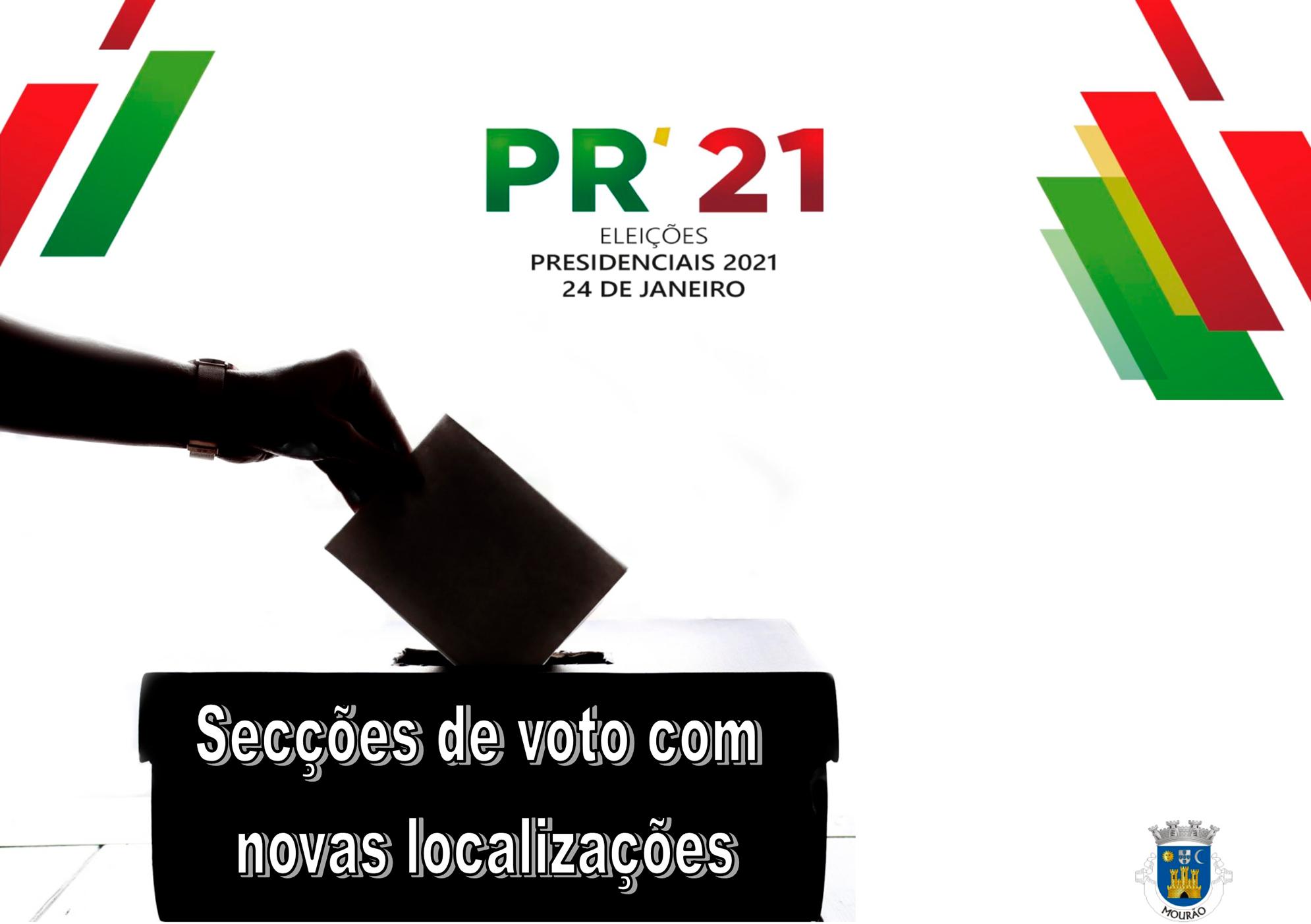 Secções de voto com novas localizações